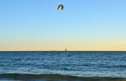 Oceano de Brighton Beach, New York foto de stock
