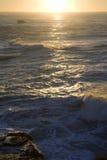 Oceano de De Oro Por do sol Fotografia de Stock Royalty Free