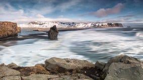Oceano de Islândia Imagens de Stock Royalty Free