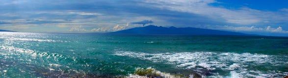 Oceano de Maui da opinião de Pano Imagens de Stock