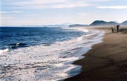 Oceano de Pasific em Kamchatka Imagem de Stock