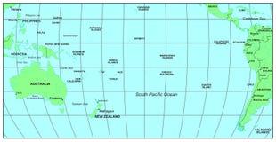 Oceano de South Pacific Imagens de Stock