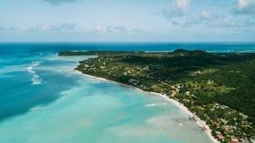 Oceano de turquesa Isla Saona fotografia de stock