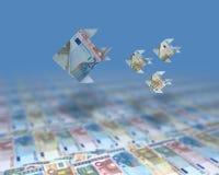 Oceano dei soldi Fotografia Stock Libera da Diritti