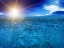 Oceano del mare dei tsunami dell'onda Immagine Stock