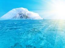 Oceano dell'iceberg Immagini Stock