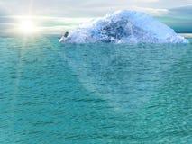 Oceano dell'iceberg Immagine Stock