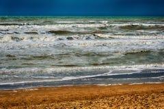 Oceano della spiaggia di sabbia immagine stock libera da diritti