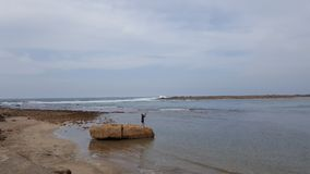 Oceano di ÙŽAtlantic nel Marocco Fotografia Stock Libera da Diritti