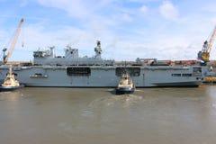 Oceano di HMS che arriva a Sunderland, il 1° maggio 2015 Immagini Stock