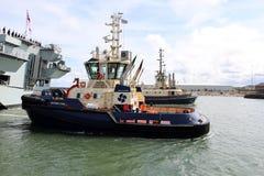 Oceano di HMS che arriva a Sunderland, il 1° maggio 2015 Immagini Stock Libere da Diritti