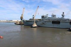 Oceano di HMS che arriva a Sunderland, il 1° maggio 2015 Fotografia Stock