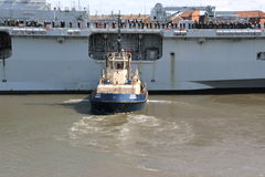 Oceano di HMS che arriva a Sunderland, il 1° maggio 2015 Fotografie Stock