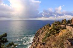 Oceano di Peacefull sul litorale dell'Oregon Fotografia Stock Libera da Diritti