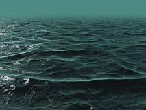 oceano di verde blu 3D Fotografia Stock Libera da Diritti