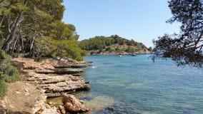 Oceano di vista di estate di Formentor Mallorca fotografie stock