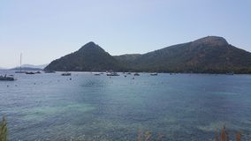 Oceano di vista di estate di Formentor Mallorca fotografia stock libera da diritti