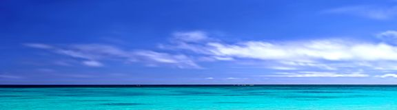 Oceano do panorama Imagem de Stock Royalty Free