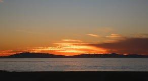 Oceano do por do sol Fotografia de Stock