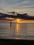 Oceano do por do sol Imagem de Stock