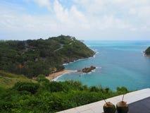 Oceano do verão no cabo em Tailândia imagens de stock