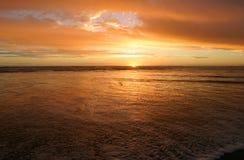 Oceano dourado Imagem de Stock Royalty Free