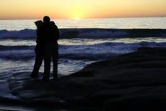 Oceano e amor Fotos de Stock Royalty Free
