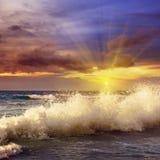 Oceano e céu foto de stock