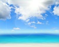 Oceano e céu perfeito Fotos de Stock Royalty Free