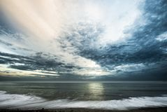 Oceano e nubi Immagini Stock Libere da Diritti