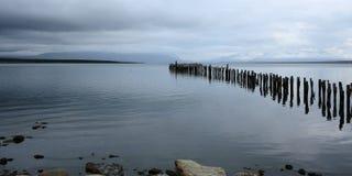 Oceano e pilastro, Cile Fotografia Stock
