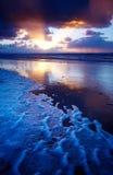 Oceano e por do sol Imagens de Stock Royalty Free