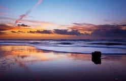 Oceano e por do sol foto de stock
