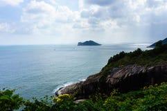 Oceano ed isola, ro di Vung, Vietnam Fotografia Stock Libera da Diritti
