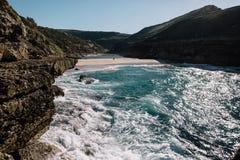 Oceano em Portugal fotografia de stock royalty free