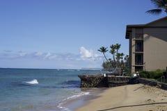 Oceano Front Condo na ilha tropical fotos de stock royalty free