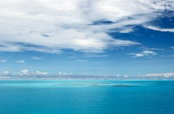Oceano Indiano calmo fotografie stock
