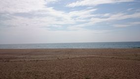 Oceano Indiano - spiaggia sabbiosa Immagine Stock