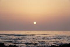Oceano magico Alba sopra l'Atlantico Mattina Immagine Stock
