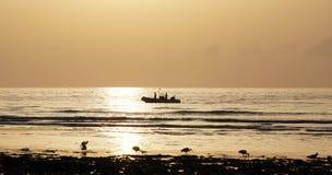 Oceano magico Alba sopra l'Atlantico Mattina Fotografia Stock