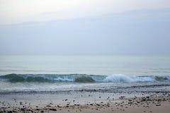 Oceano magico atlantico Mattina Alba sopra l'orizzonte Grandi momenti di nuovo giorno Fotografie Stock Libere da Diritti