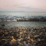 Oceano, mar, água, rochas, areia imagem de stock