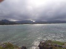 Oceano & Montains Fotografie Stock