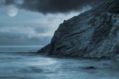Oceano Moonlit fotografia stock