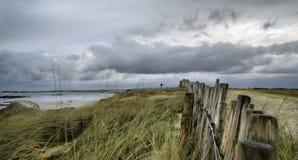 Oceano na tempestade, France, Hdr Fotografia de Stock Royalty Free