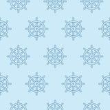 Oceano nautico marittimo del mare del modello del timone dell'ancora di vettore di pirata del crogiolo senza cuciture di nave royalty illustrazione gratis