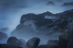 Oceano in nebbia Fotografia Stock Libera da Diritti