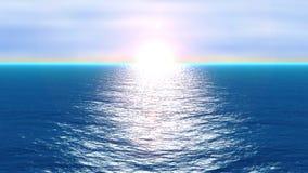 Oceano no movimento. ilustração do vetor