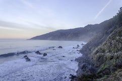 Oceano Pacífico Big Sur do nascer do sol Imagem de Stock Royalty Free