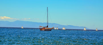 Oceano Pacífico, Califórnia Foto de Stock Royalty Free